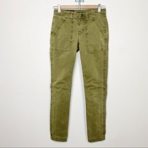J. Crew army olive green pants 24